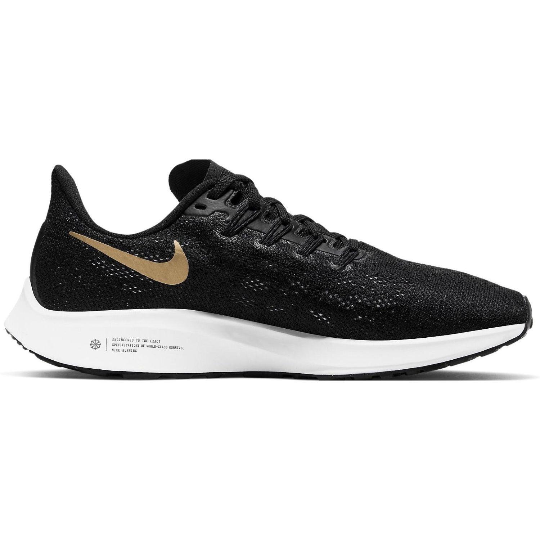 Nike wmns nike air zoom pegasus 36 Negro / dorado Running en ...