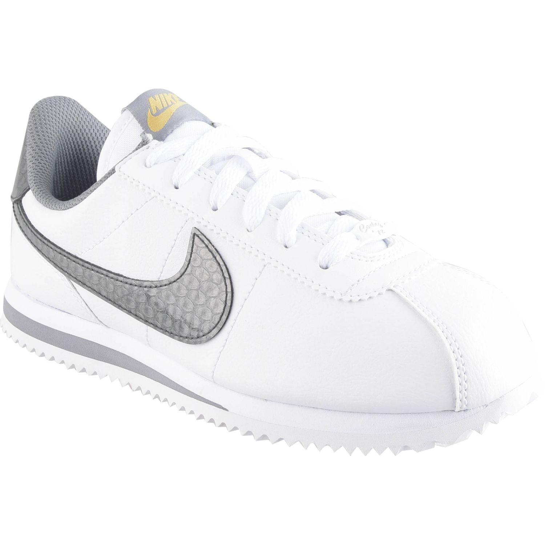Nike cortez basic bby drgn gg BLANCO / PLOMO Fitness y Cross-Training