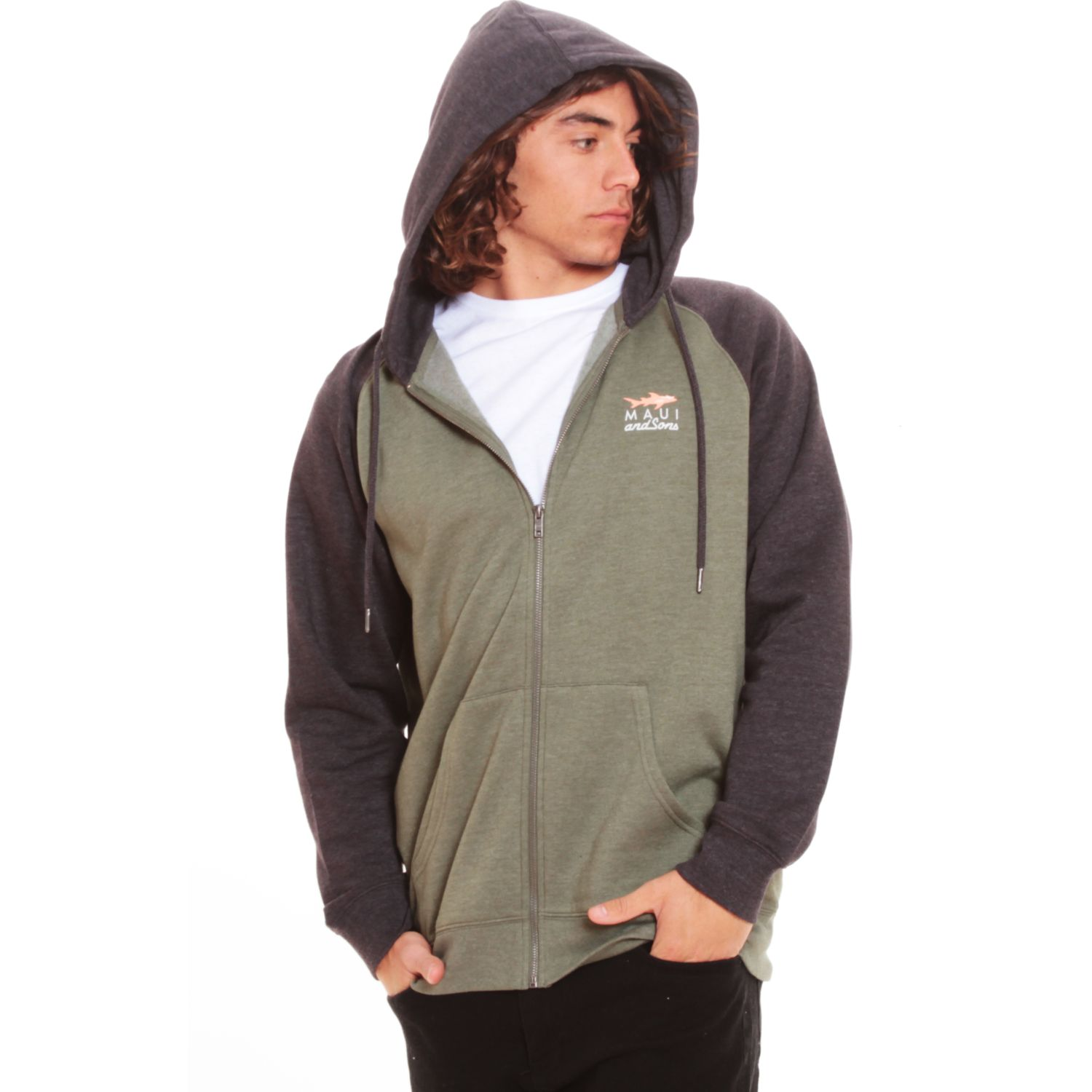 MAUI AND SONS Poleron Fullzipper 5O158-MV20 Verde Pullovers