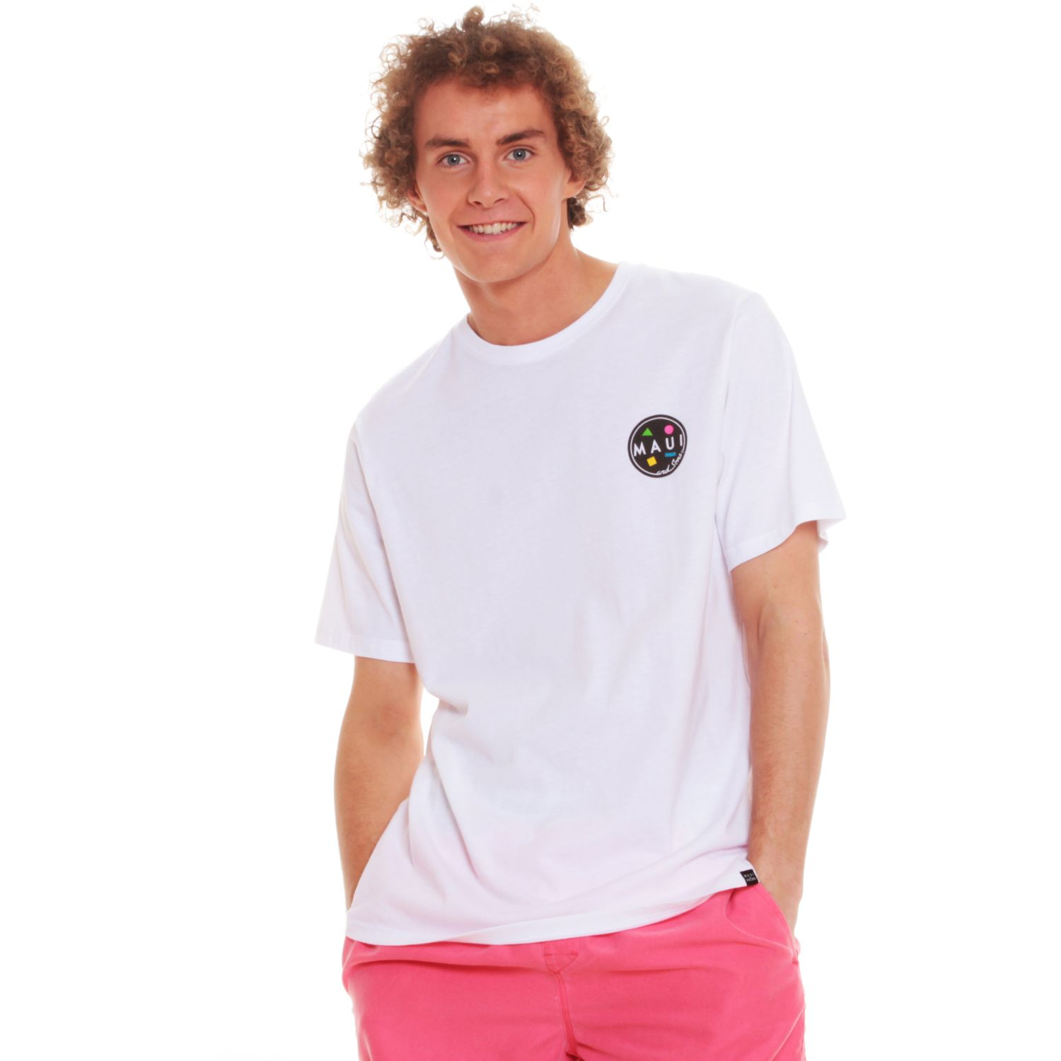 MAUI AND SONS Polera Mc 5p179-Mv20 Blanco Polos