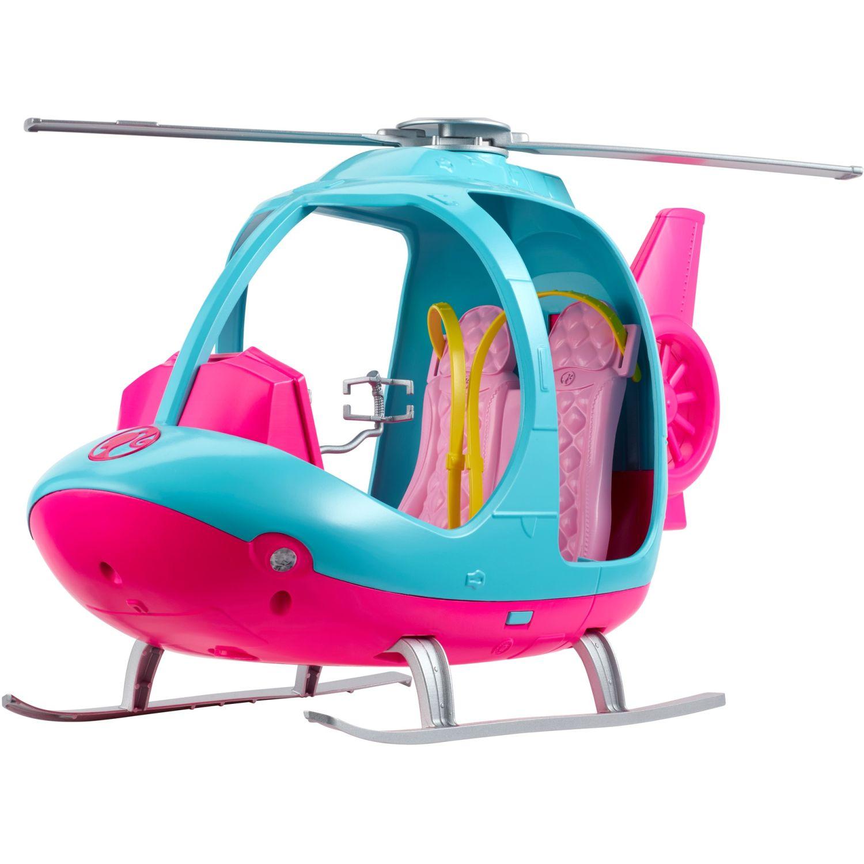Barbie explora y descubre helicÓptero Rosado / celeste cochecitos