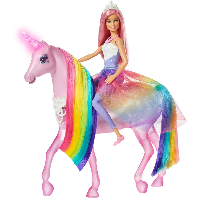 Barbie BARBIE UNICORNIO DE LUCES MÁGICAS Varios muñecas