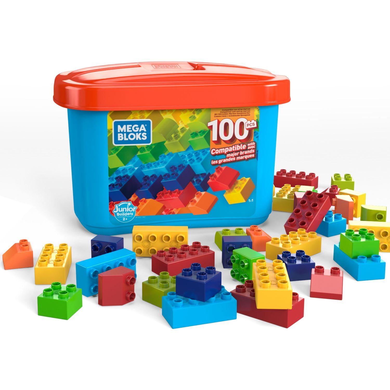 MEGABLOCKS Bloks Mega Caja De Contrucción 100 Pza Varios Juegos de construcción