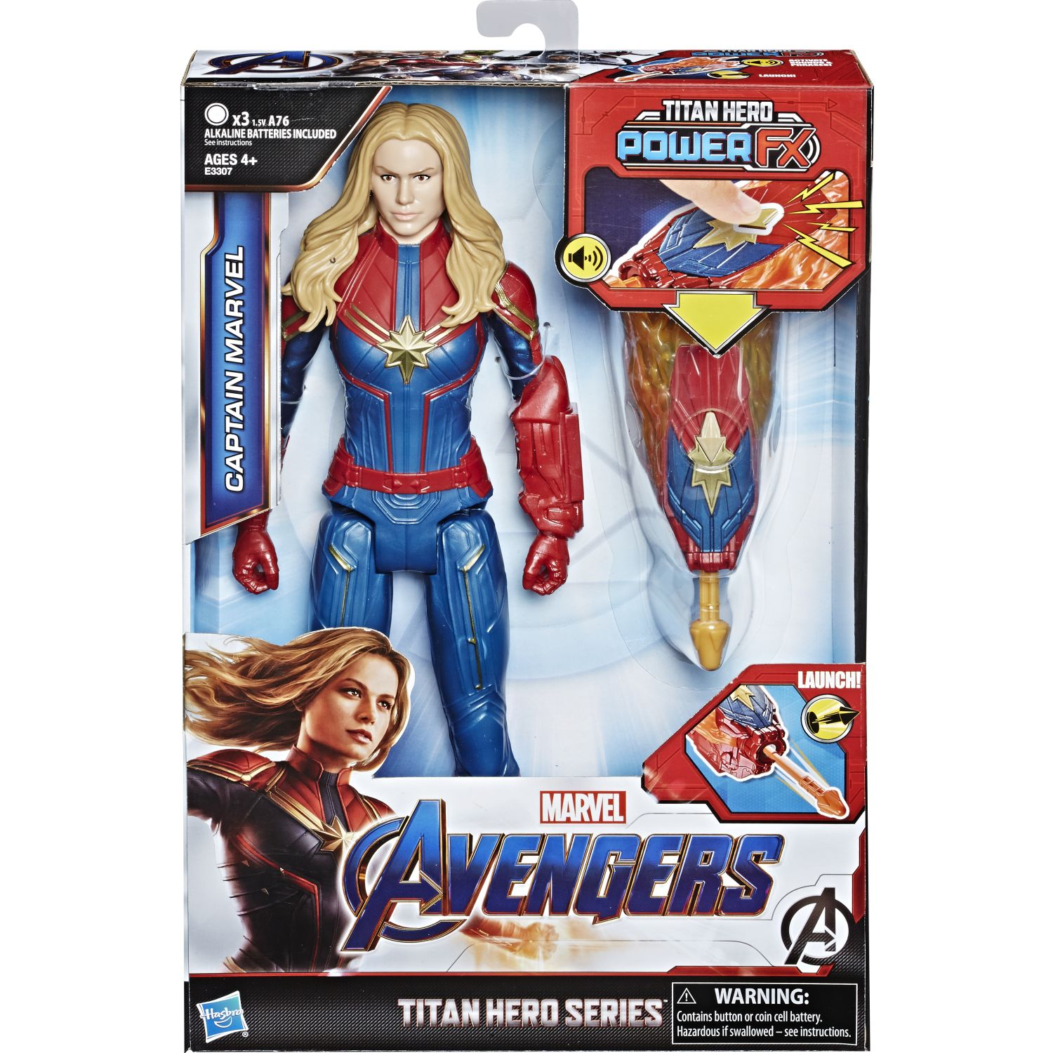 Avengers Th Power Fx 2.0 Capitan Marvel Varios Figuras de acción