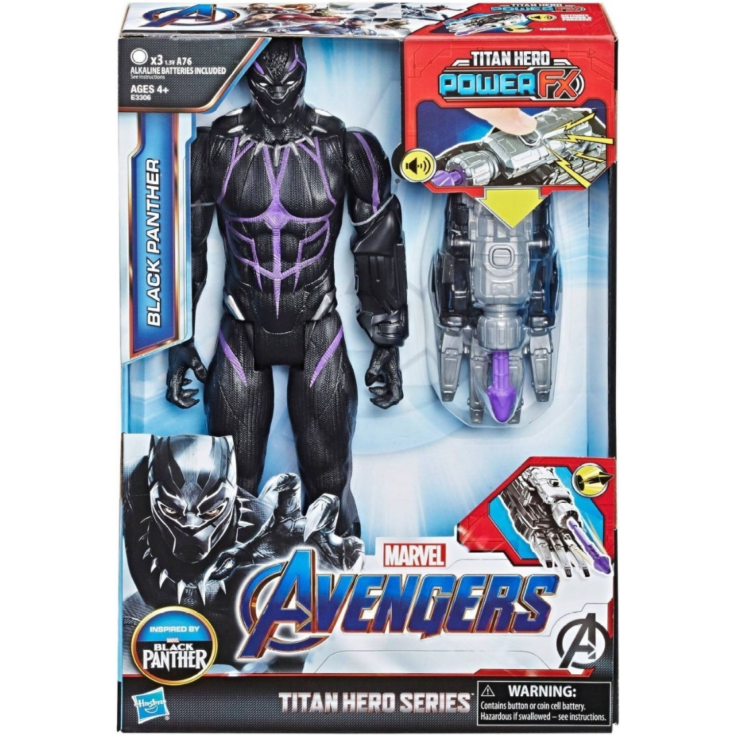Avengers TH POWER FX 2.0 HERO BLACK PANTHER Varios Figuras de Acción