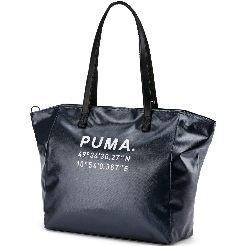 Puma Prime Time Large Shopper X-mas Negro / blanco bolsos de lazo