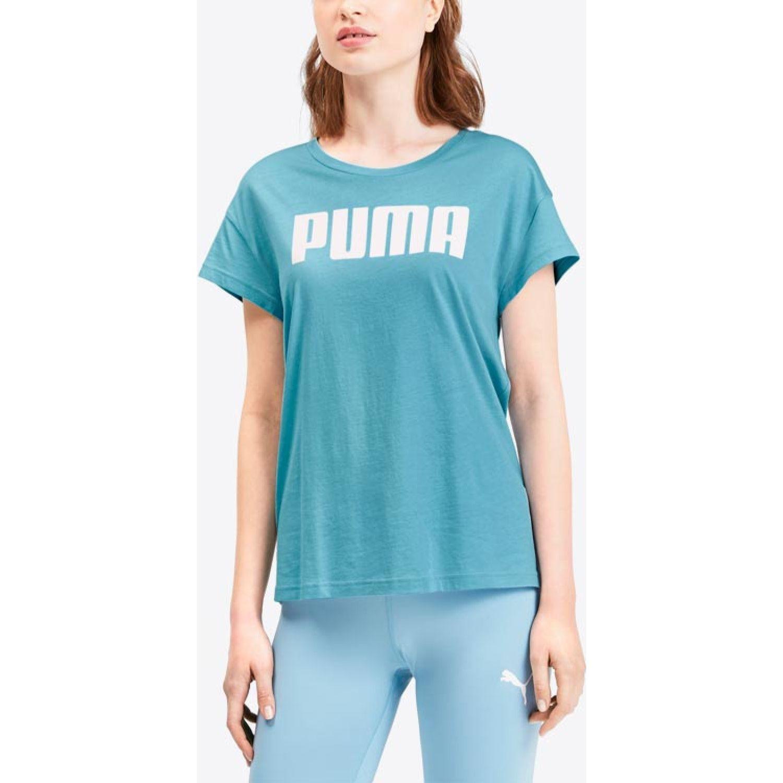 Puma Active Logo Tee Turquesa Polos