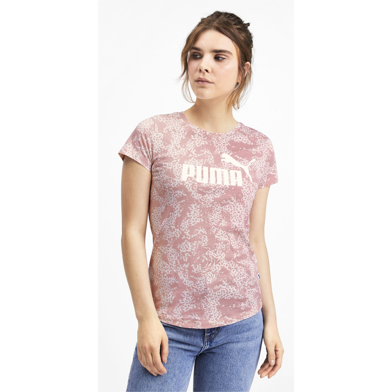 Puma elevated ess aop tee Rosado / blanco Polos