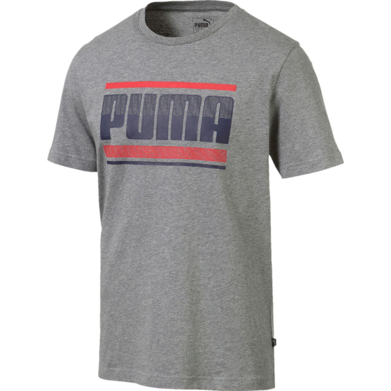 Puma Puma Graphic Gris / rojo Camisetas y polos deportivos