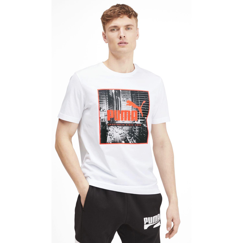 Puma Photo Street Tee Blanco / naranja Camisetas y polos deportivos