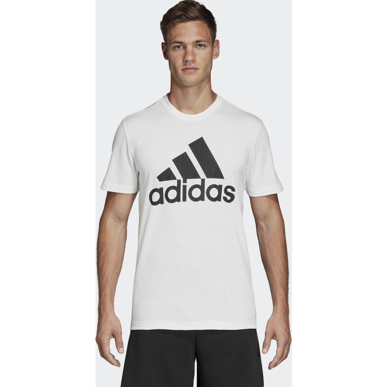 Adidas mh bos tee Blanco / negro Camisetas y Polos Deportivos