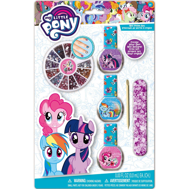 My Little Pony Pack X3- Esmalte Con Rueda De Gema Varios Esmalte