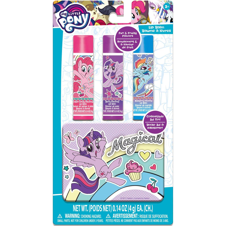 My Little Pony Packx3-Brillo Labial Con Tarro Pequeño Varios Maquillaje