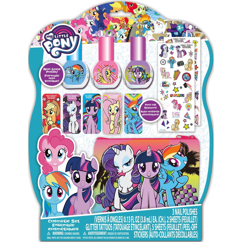 My Little Pony pack x3-esmalte con stickers y bolsa Varios Esmalte de uñas
