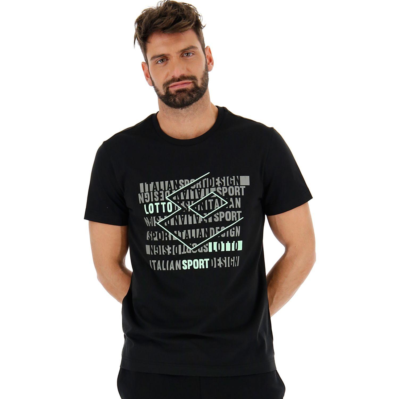 Lotto supra tee js Negro Camisetas y Polos Deportivos