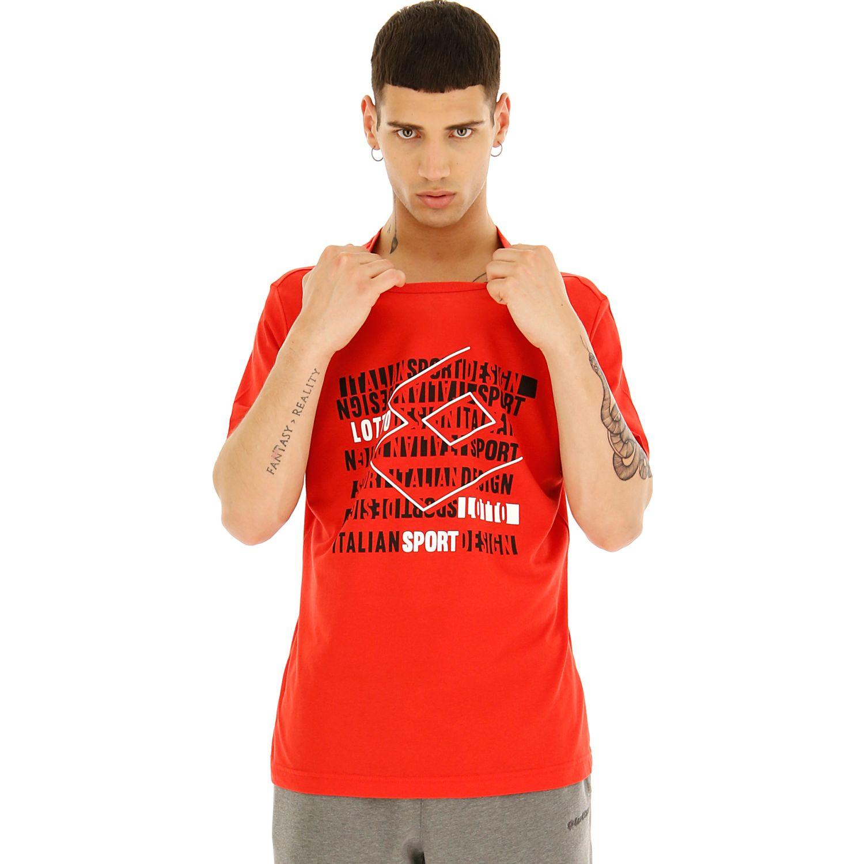 Lotto SUPRA TEE JS Rojo Camisetas y Polos Deportivos