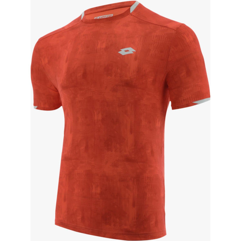 Lotto Top Ten Tee Prt Pl Naranja / blanco Camisetas y polos deportivos