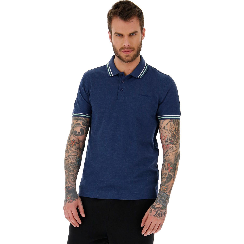 Lotto l73 polo mel pq Azul Camisetas y Polos Deportivos