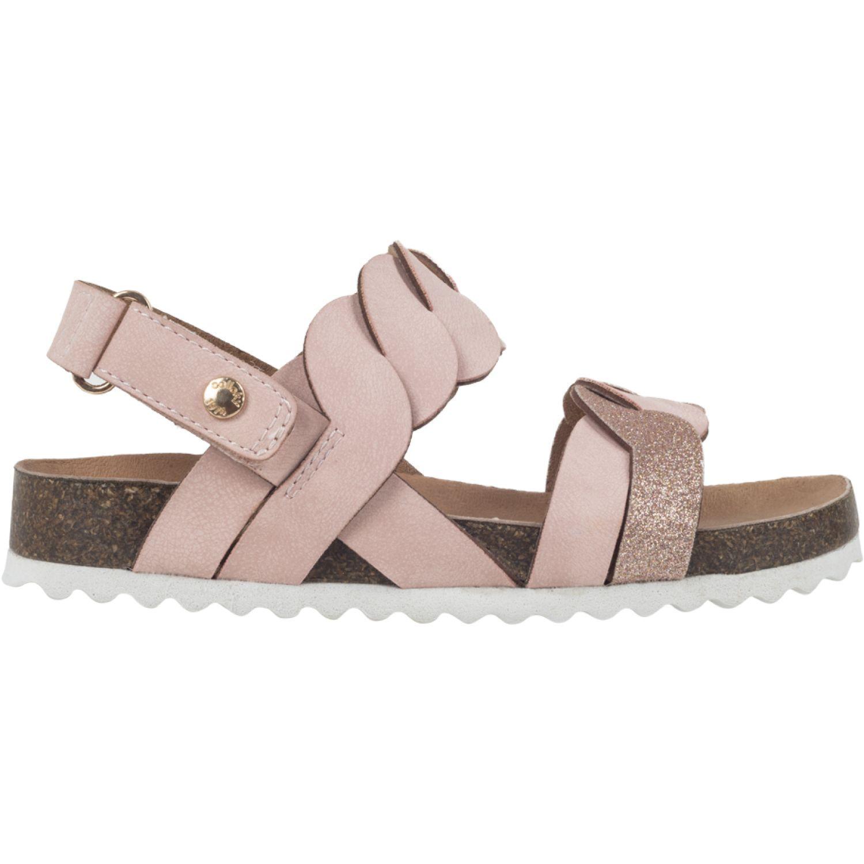 Colloky Sandalia Velcro Abierta Trenzada Rosado Sandalias