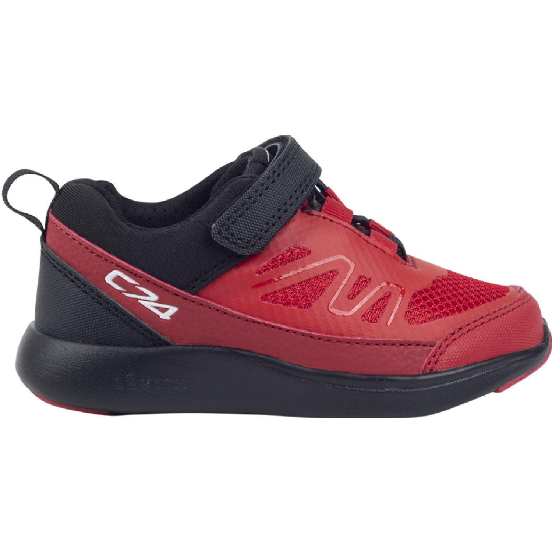 Colloky Zapatilla Fused Velcro Elástico Negro / rojo Zapatillas