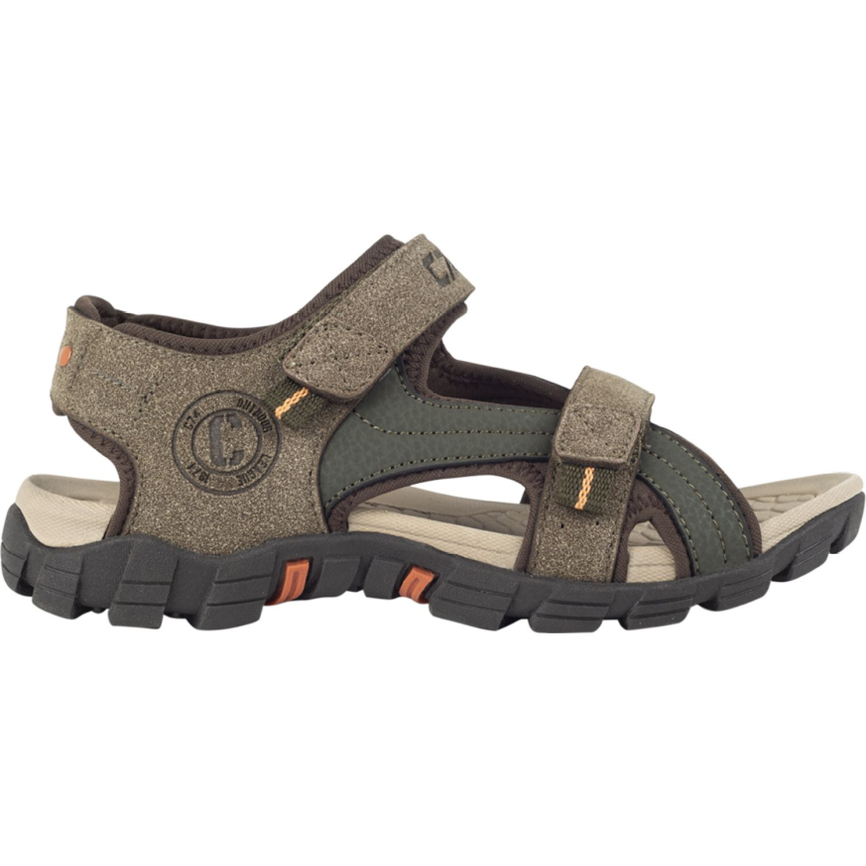 Colloky Sandalia Doble Velcro VERDE MILITAR Sandalias