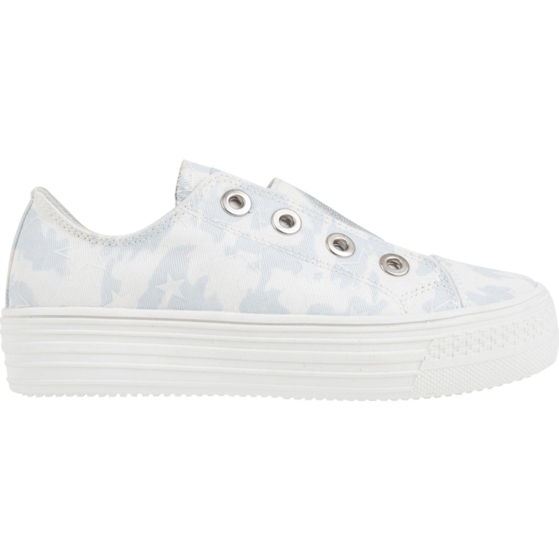 Colloky plataforma elastico estampada Blanco Zapatillas