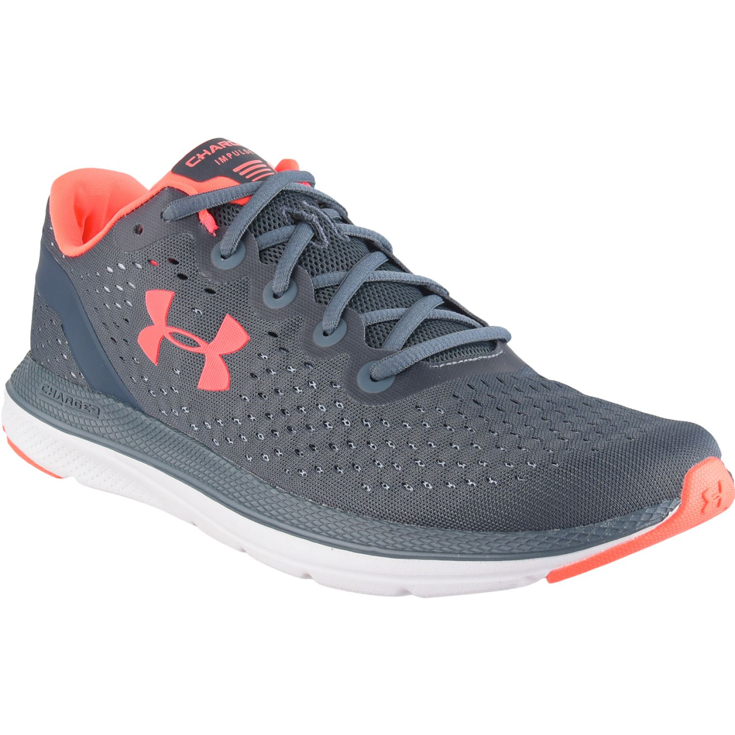 Under Armour UA Charged Impulse NAVY / CORAL Running en pista