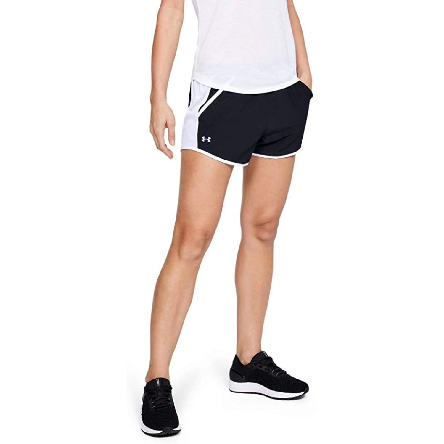 Under Armour Fly By Short Negro / blanco Shorts Deportivos