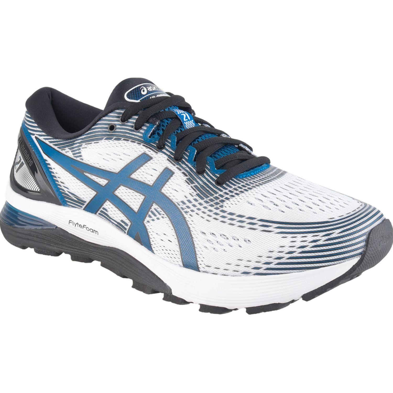 Asics Gel-Nimbus 21 Blanco / azul Correr por carretera