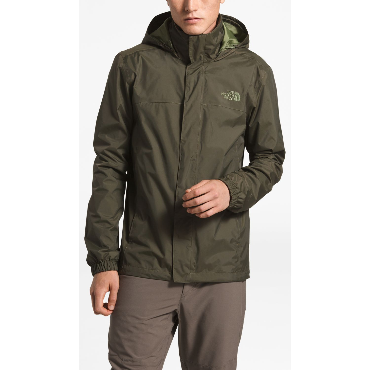The North Face M Resolve 2 Jacket Verde Impermeables y chaquetas