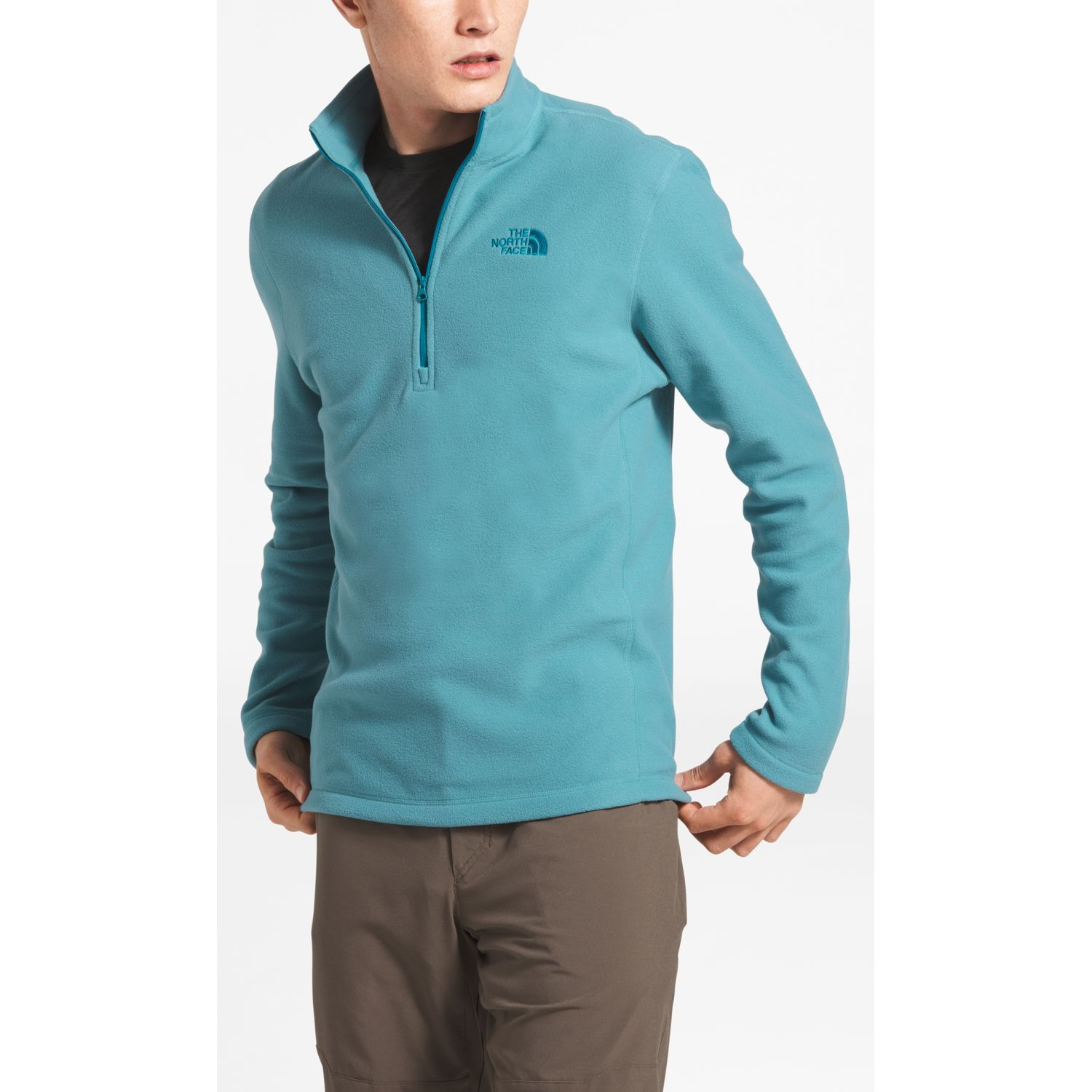 The North Face M Tka 100 Glacier 1/4 Zip Azul Jerseys
