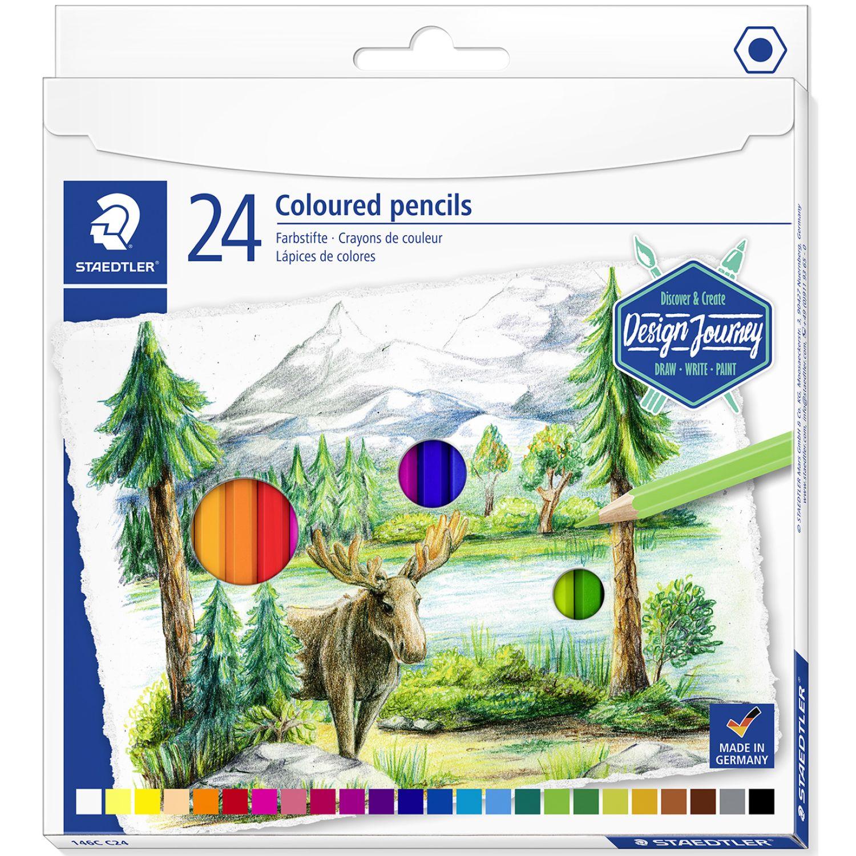 STAEDTLER Col Lar Hex Caj Carton X24 Varios Lápices coloreados