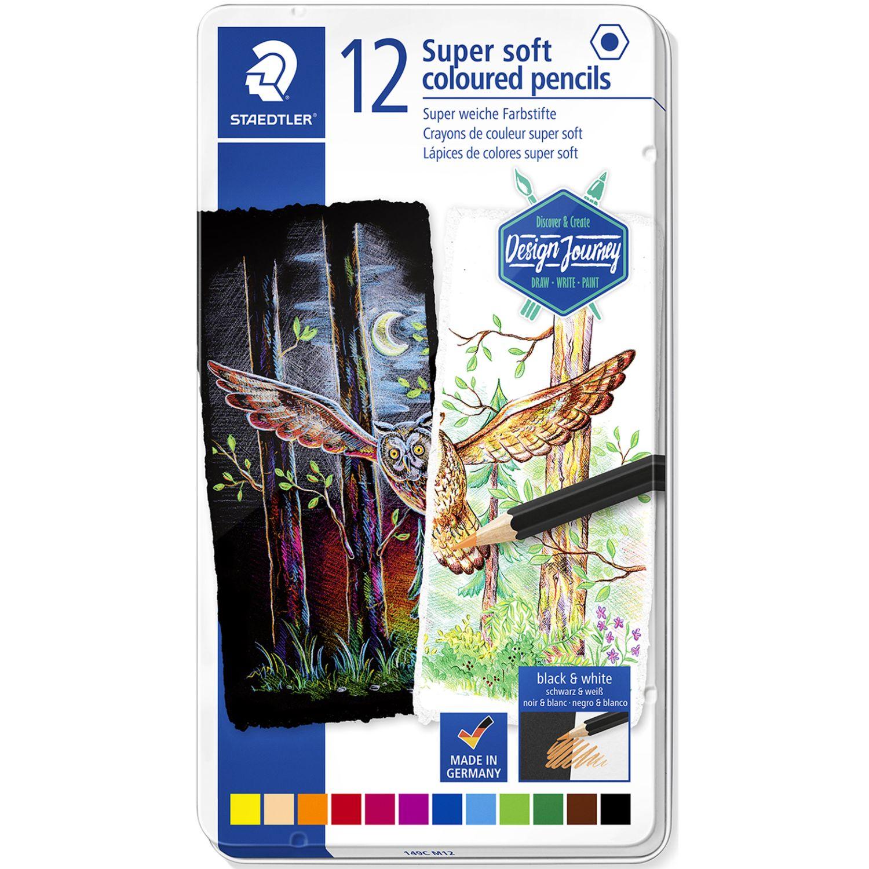 STAEDTLER COL LAR HEX SUPER SOFT LATA X 12 Varios Lápices coloreados