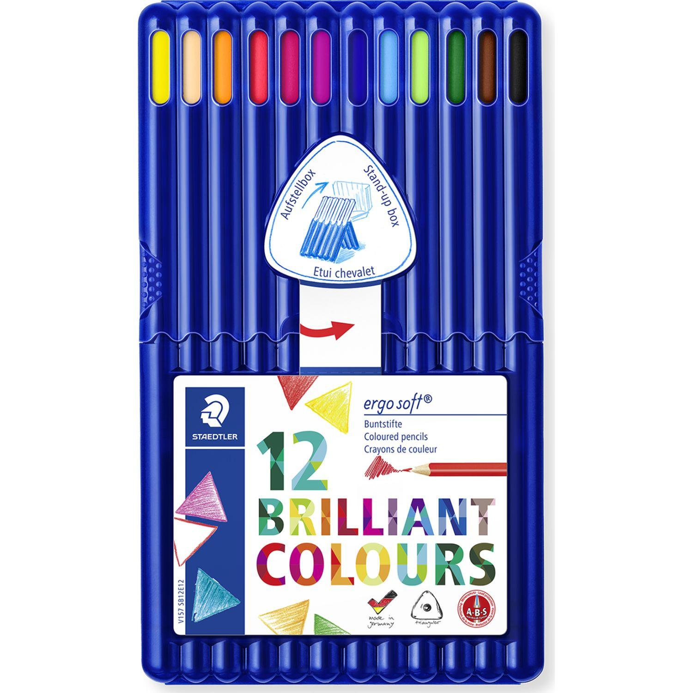 STAEDTLER Col Lar Triares Ergosoft Caj Plast X12 Varios Lápices coloreados