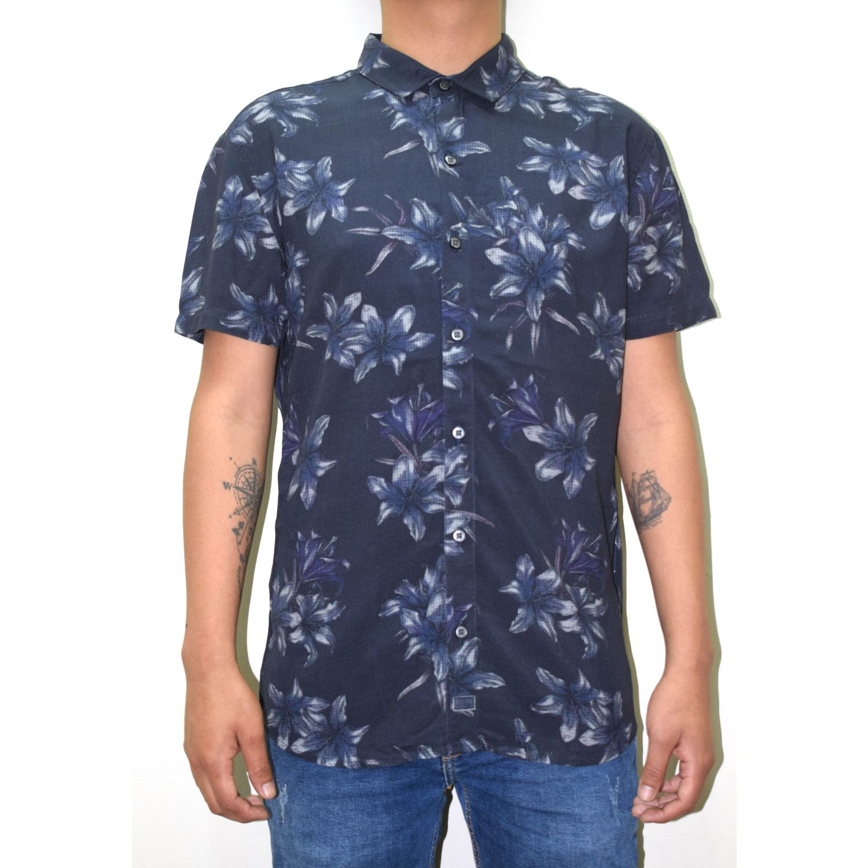 ROCK & RELIGION Frisk AZUL NOCHE Camisas de botones