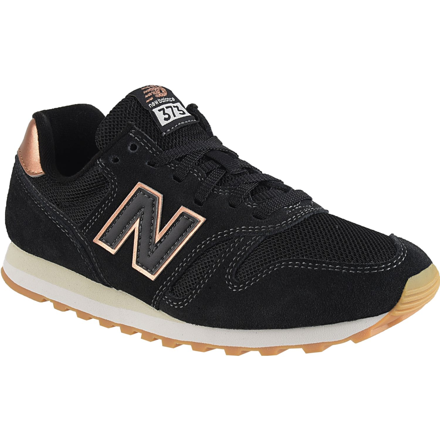 New Balance 373 Negro / dorado Walking