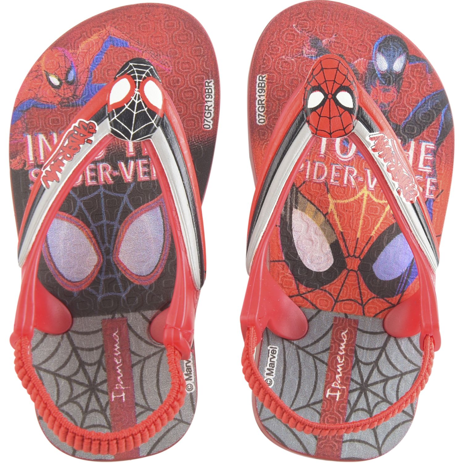 SPIDER-MAN Power Iv Bb Rojo / gris Sandalias