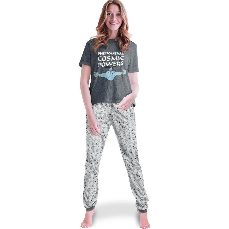 ALADDIN pijama de mujer 2 piezas - genio Plomo / gris Pijamas y Camisetas de Dormir