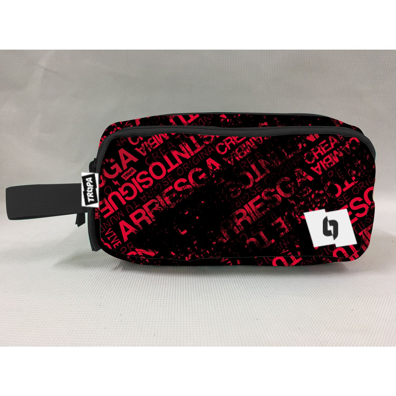 TROPA Zipper Negro / rojo Portalápices