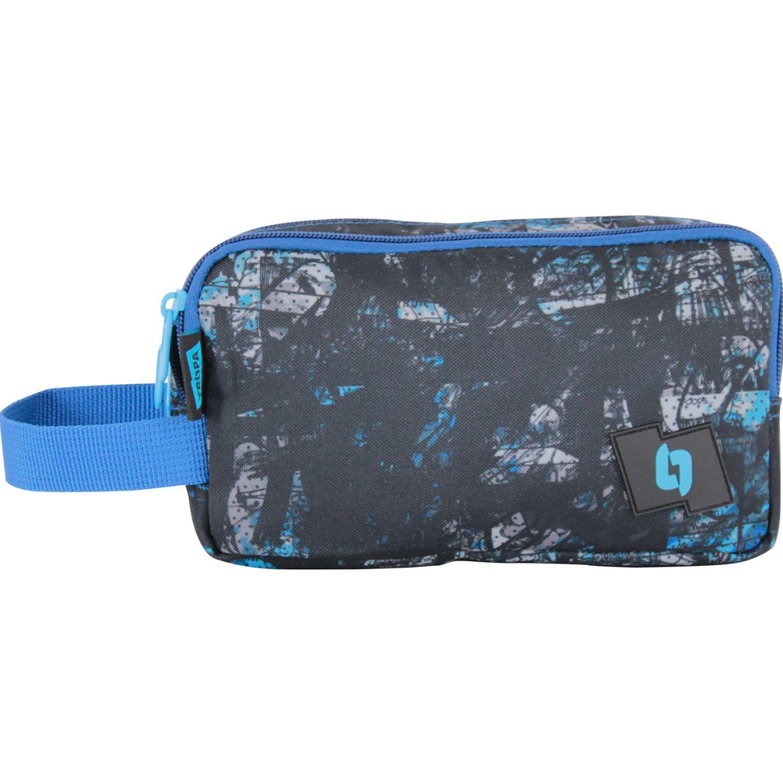 TROPA Zipper Negro / azul Portalápices