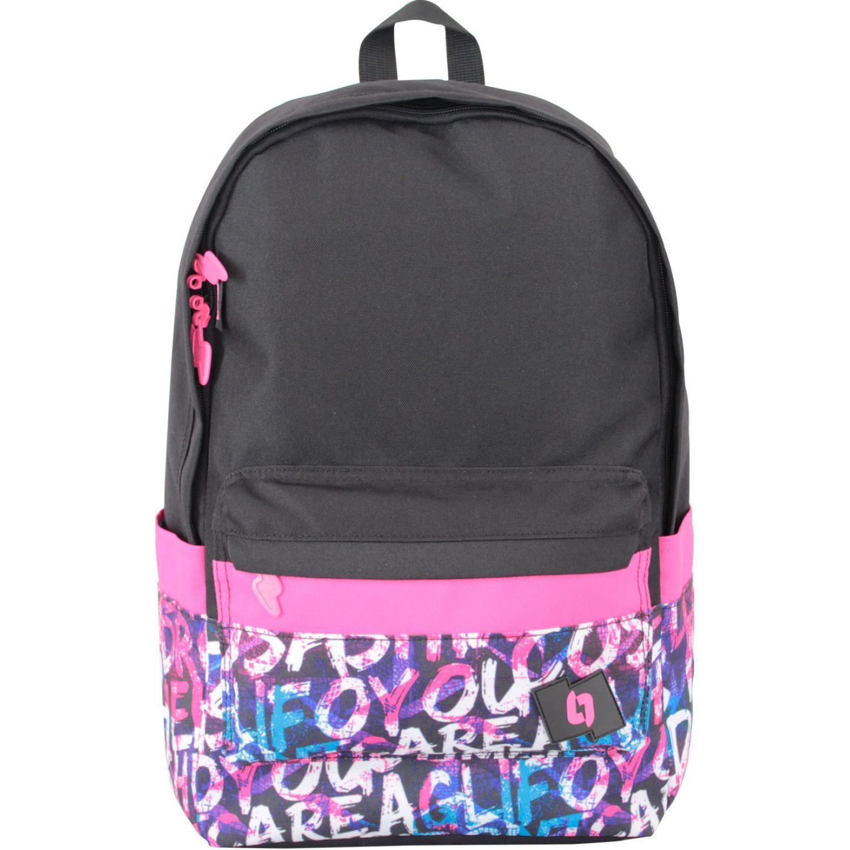TROPA ALEO Negro / rosado mochilas