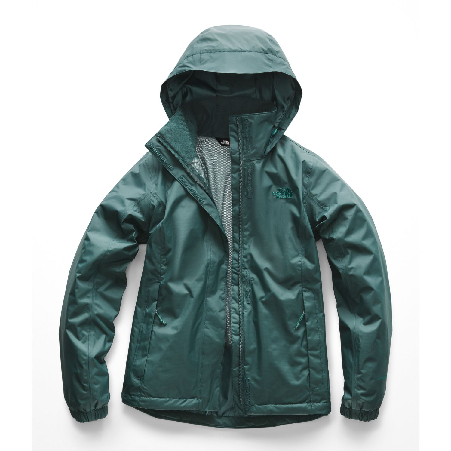 The North Face W RESOLVE 2 JACKET Verde Impermeables y chaquetas