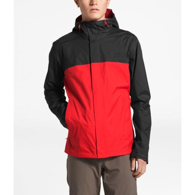 The North Face M VENTURE 2 JACKET Negro / rojo Impermeables y chaquetas