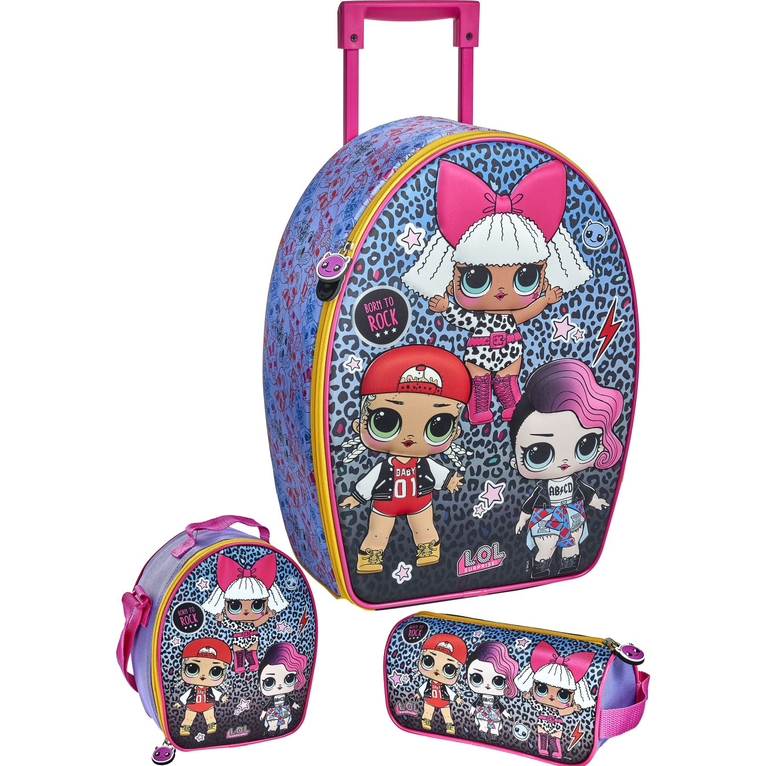 LOL 20 SCOOL LOL SET RANGER_A 3D Fucsia Mochilas