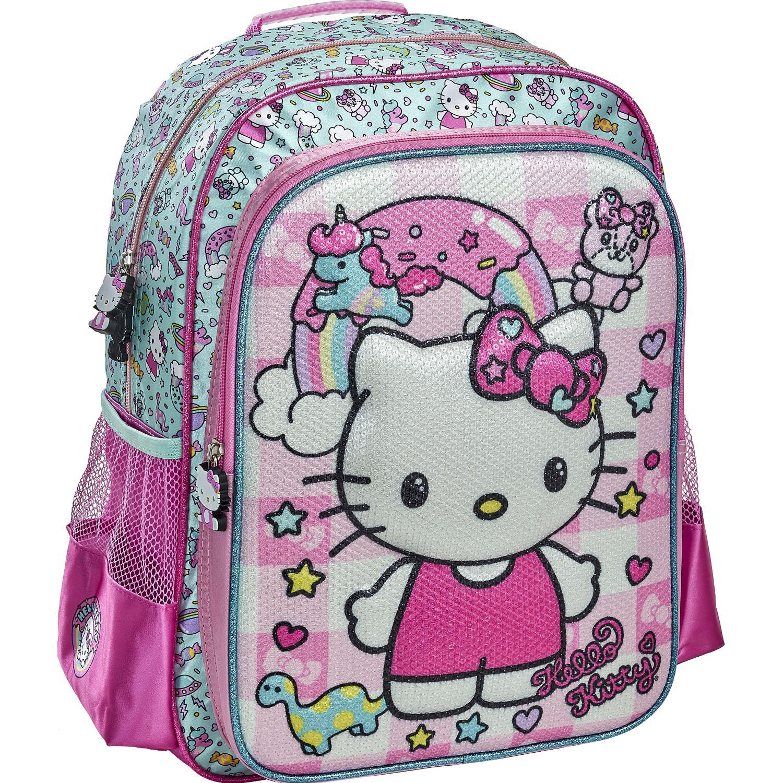 Hello Kitty 20 SCOOL HELLO KITTY  2BOL EVA 3D LENT Rosado / blanco mochilas
