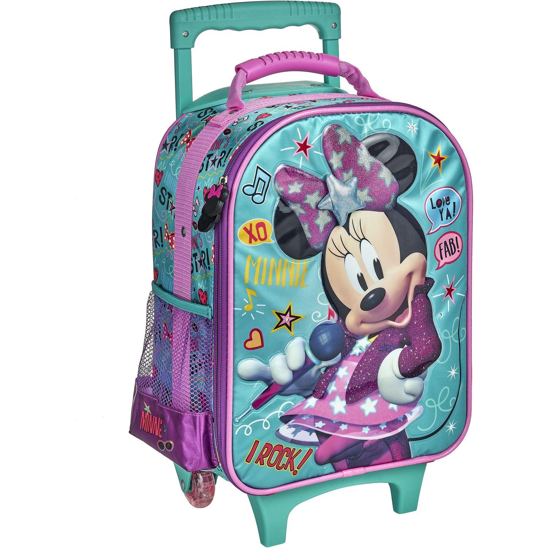 Minnie 20 SCOOL P MINNIE MALETA  C/PVC EVA 3D ROSADO / VERDE mochilas