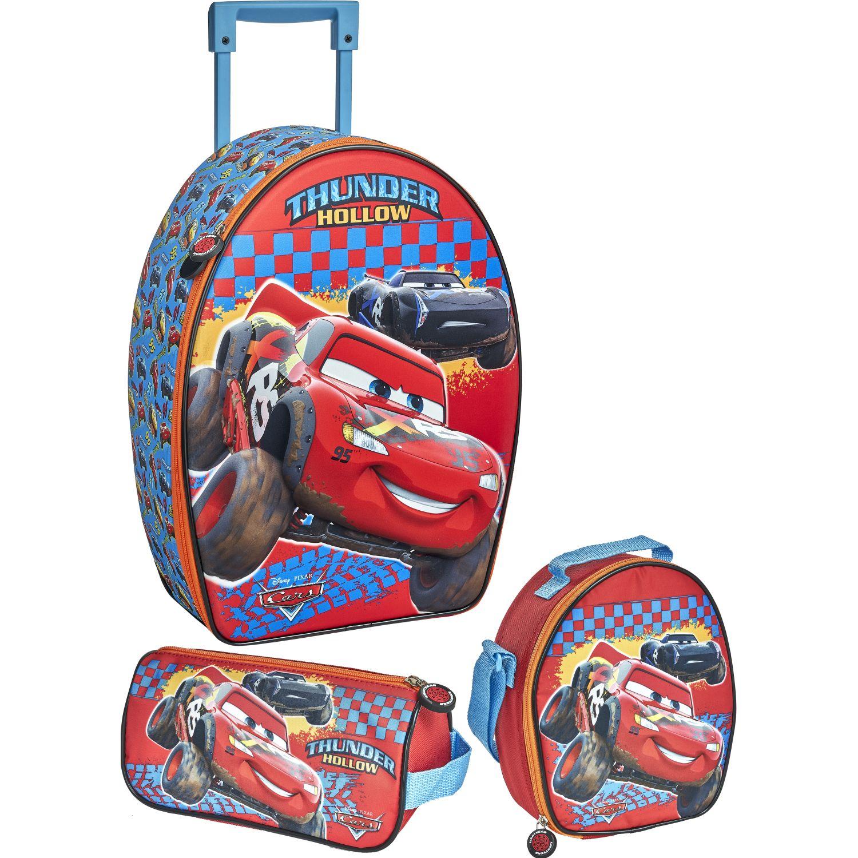 Cars 20 Scool Cars Set Ranger_A 3d Rojo Mochilas