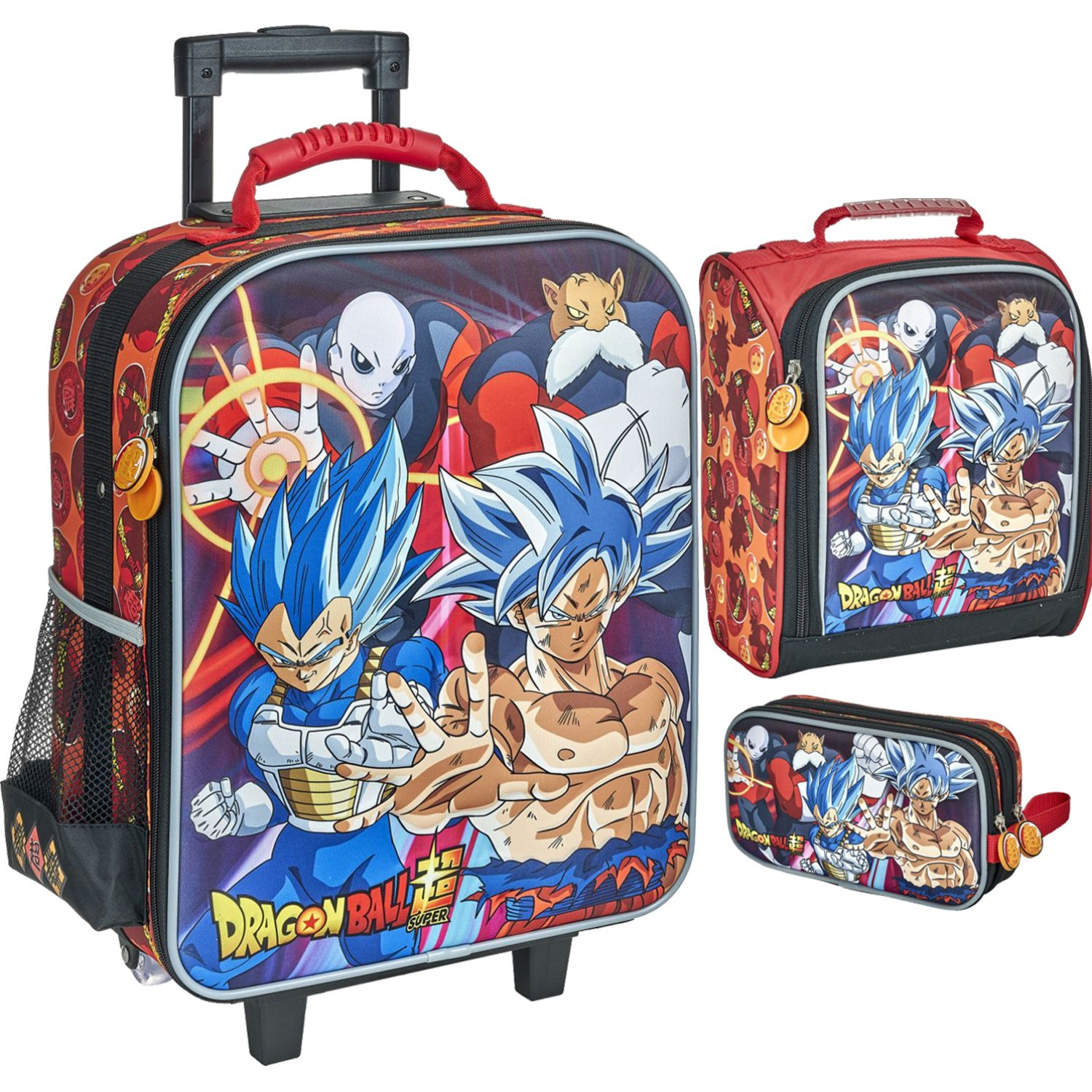 DRAGON BALL 20 Scool Dragon Ball Set Eva 3d Gde Negro / rojo Mochilas