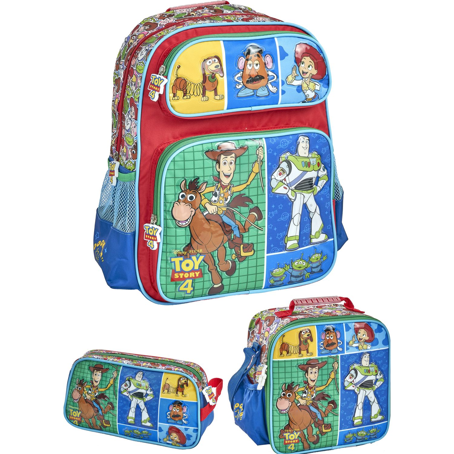 Toy Story 20 Scool Toy Story Set Pre Escolar Pvc Azul / verde Mochilas