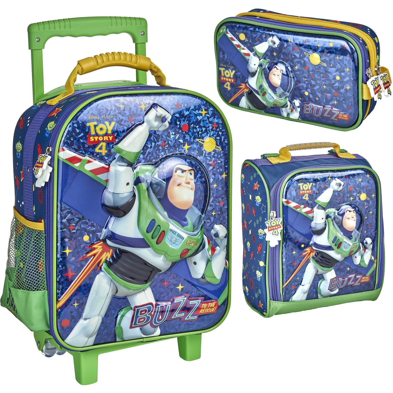 Toy Story 20 SCOOL TOY STORY SET EVA 6D NEW MED Azul / verde Mochilas